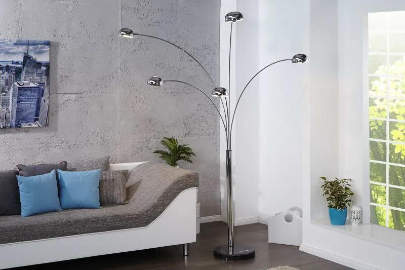 Stojanová lampa Qualle chróm