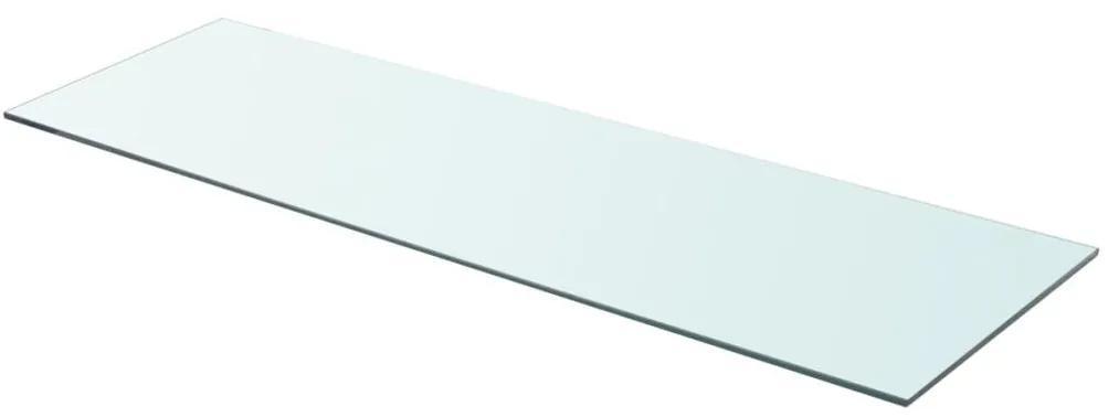 vidaXL Poličkový panel z priehľadného skla, 90x30 cm