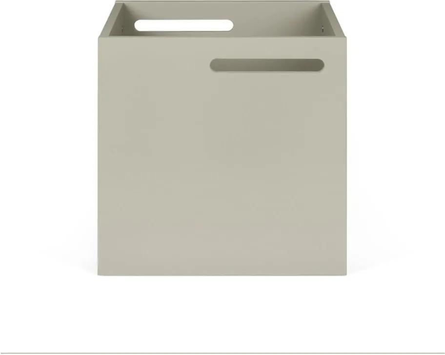 Sivý úložný box ku knižniciam TemaHome Berlin