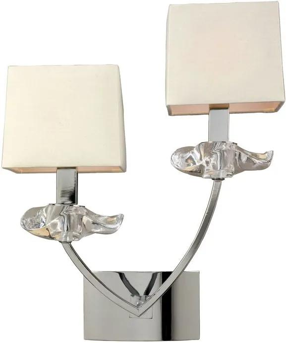 Mantra AKIRA 0937 Nástenné Lampy chróm 2xE14 max. 40 W 29x37x17 cm