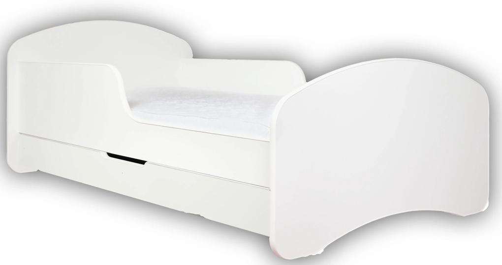 MAXMAX Detská posteľ so zásuvkou 180x90cm BIELA + matrace ZADARMO! 180x90 pre dievča|pre chlapca|pre všetkých ÁNO biela