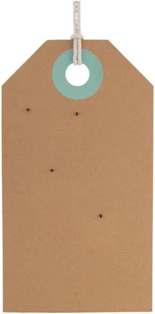Korková nástenná tabuľa s detailmi v zelenej a modrej farbe PT LIVING Memo Board, 60 × 34 cm