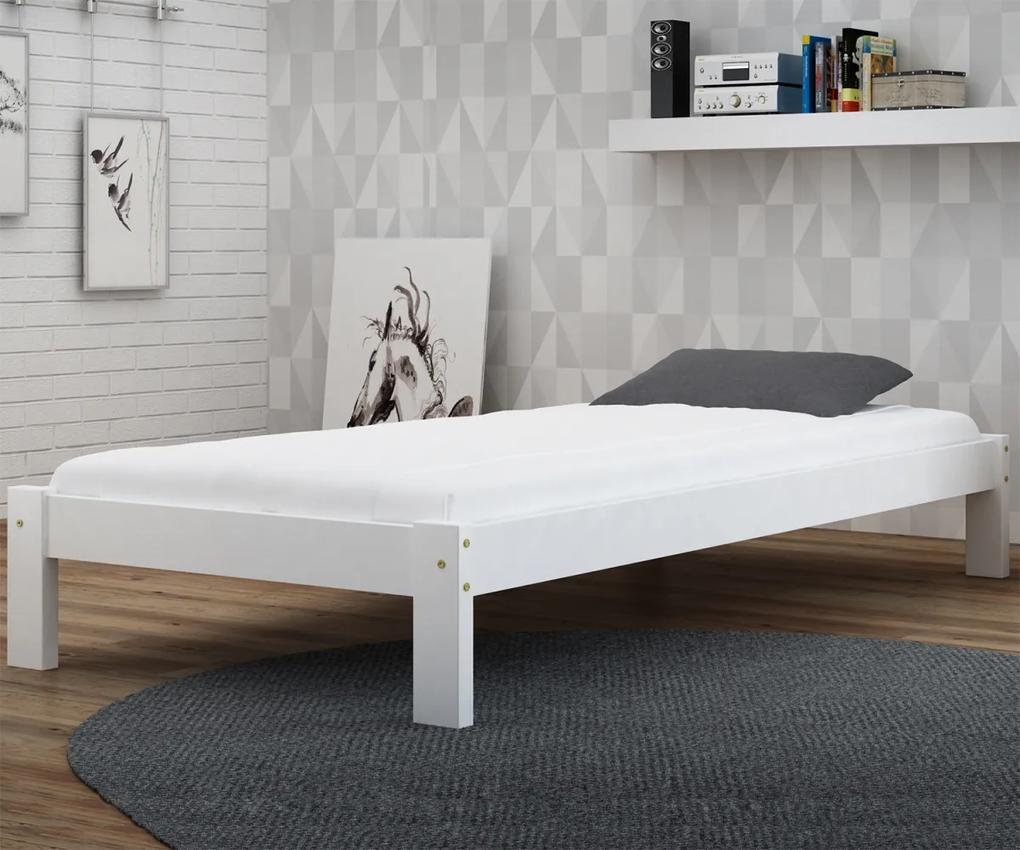 AMI nábytok Posteľ biela Luisa  90x200 masív
