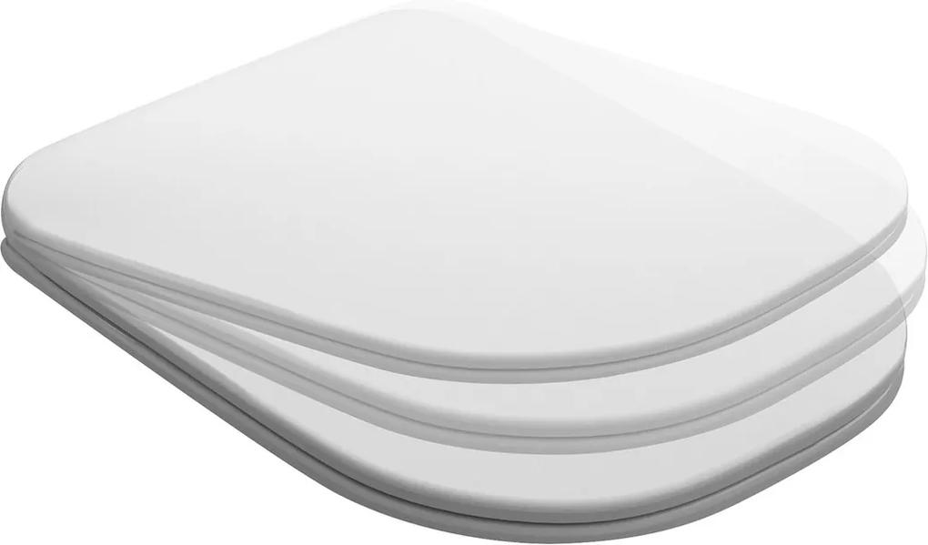 Tribeca 519101 WC sedátko Soft Close SLIM, duroplast, biele