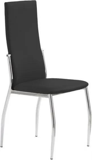Jedálenská stolička Morgan čierna