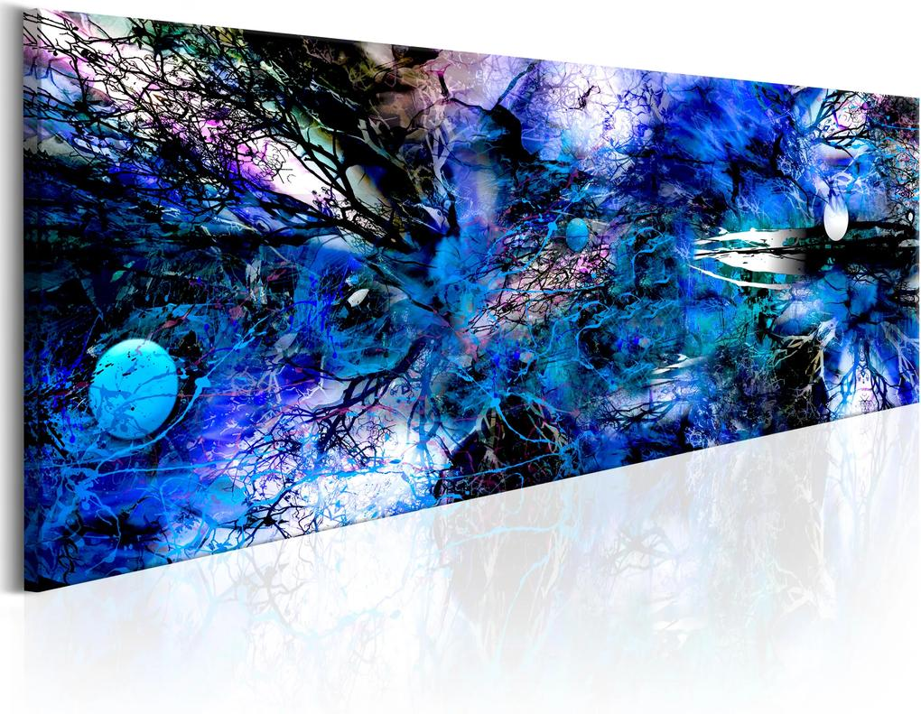 Obraz - Blue Artistic Chaos 135x45