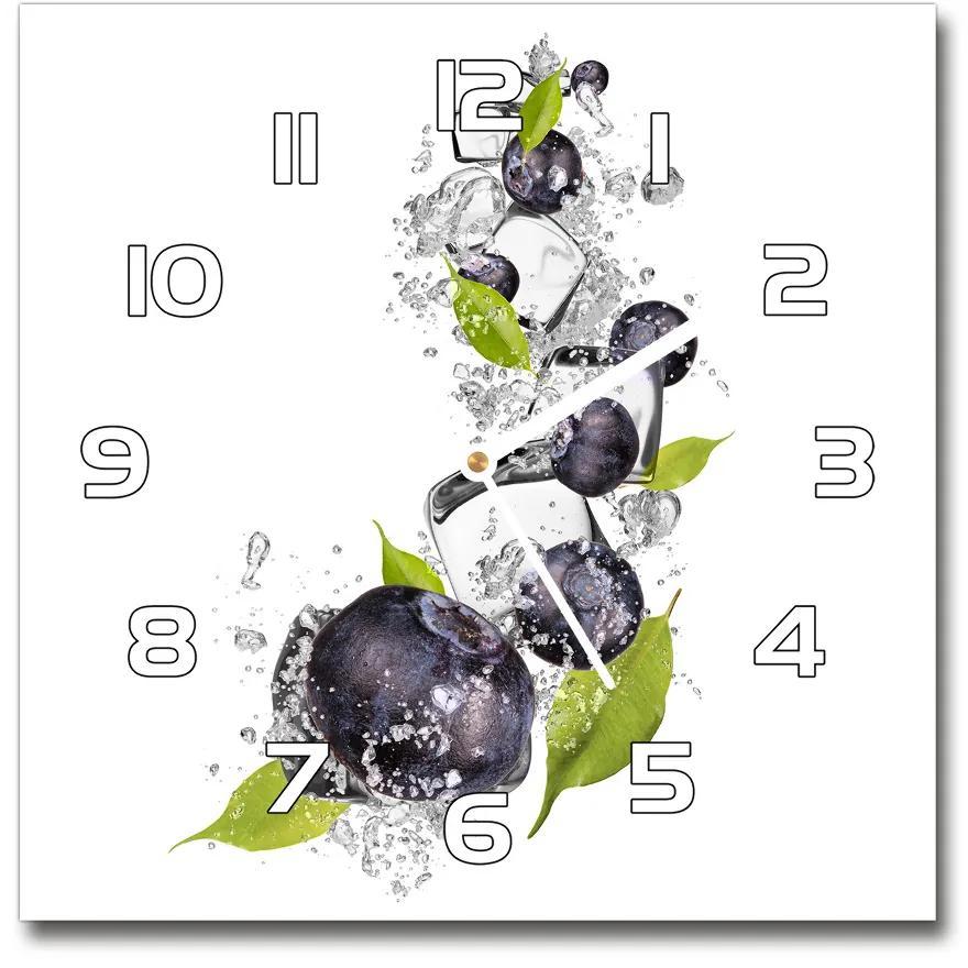 Sklenené hodiny na stenu Čučoriedky s ľadom pl_zsk_30x30_f_54963979