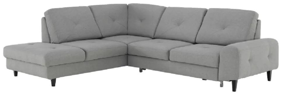 Rozkladacia sedacia súprava, látka Soro sivá, ľavá, PRAGA