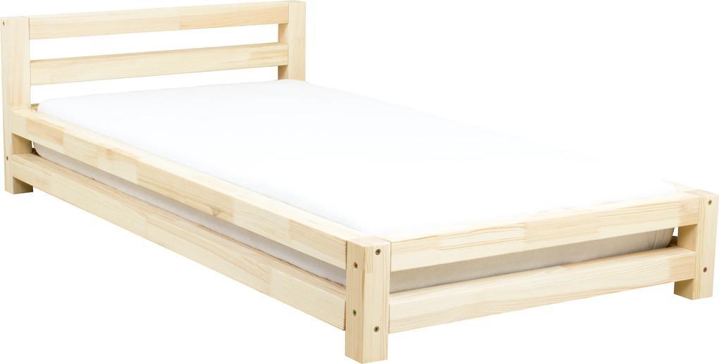 MAXMAX Detská dizajnová posteľ z masívu 160x80 cm SINGLE bez šuplíku 160x80 NIE