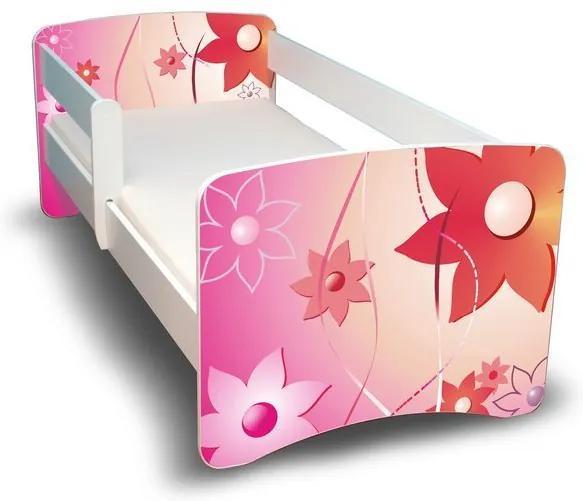 MAXMAX Detská posteľ 160x70 cm - KVETINKY II. 160x70 pre dievča NIE