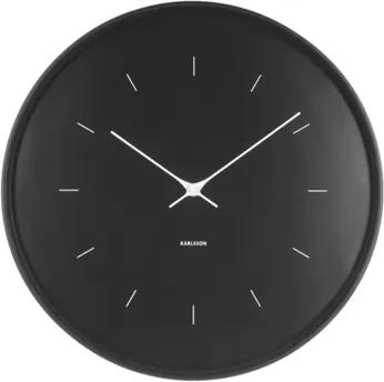 Karlsson Čierne nástenné hodiny - Karlsson Butterfly Hands, OE 37,5 cm