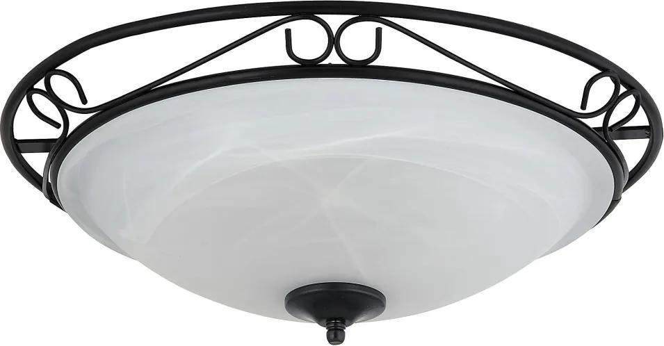 Rábalux Athen 3723 Stropné Svietidlá čierny biely E27 3x MAX 60W Ø470 mm
