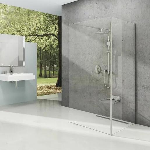 Pevná stena Ravak Walk-in 120 cm, sklo číre, chróm profil, univerzálny GW1CG7C00Z1