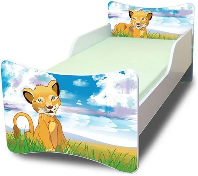 MAXMAX Detská posteľ 200x90 cm - LEVÍK 200x90 pre všetkých NIE