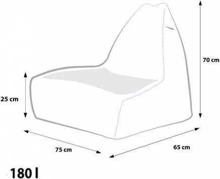 Ecopuf Sedací vak Ecopuf - KEIKO S polyester NC1
