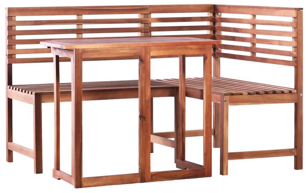 1a2884ca6 vidaXL Balkónový stôl a rohová lavica 2 kusy, masívne akáciové drevo ...