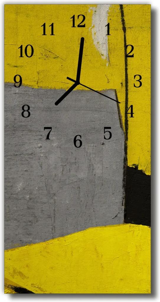 Skleněné hodiny vertikální Barevná olejová barva