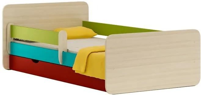 MAXMAX Detská posteľ so zásuvkou COLOR 200x90 cm 200x90 pre dievča|pre chlapca|pre všetkých ÁNO