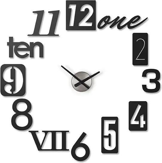 Nástěnné hodiny Numbro, černá S28690 CULTY +