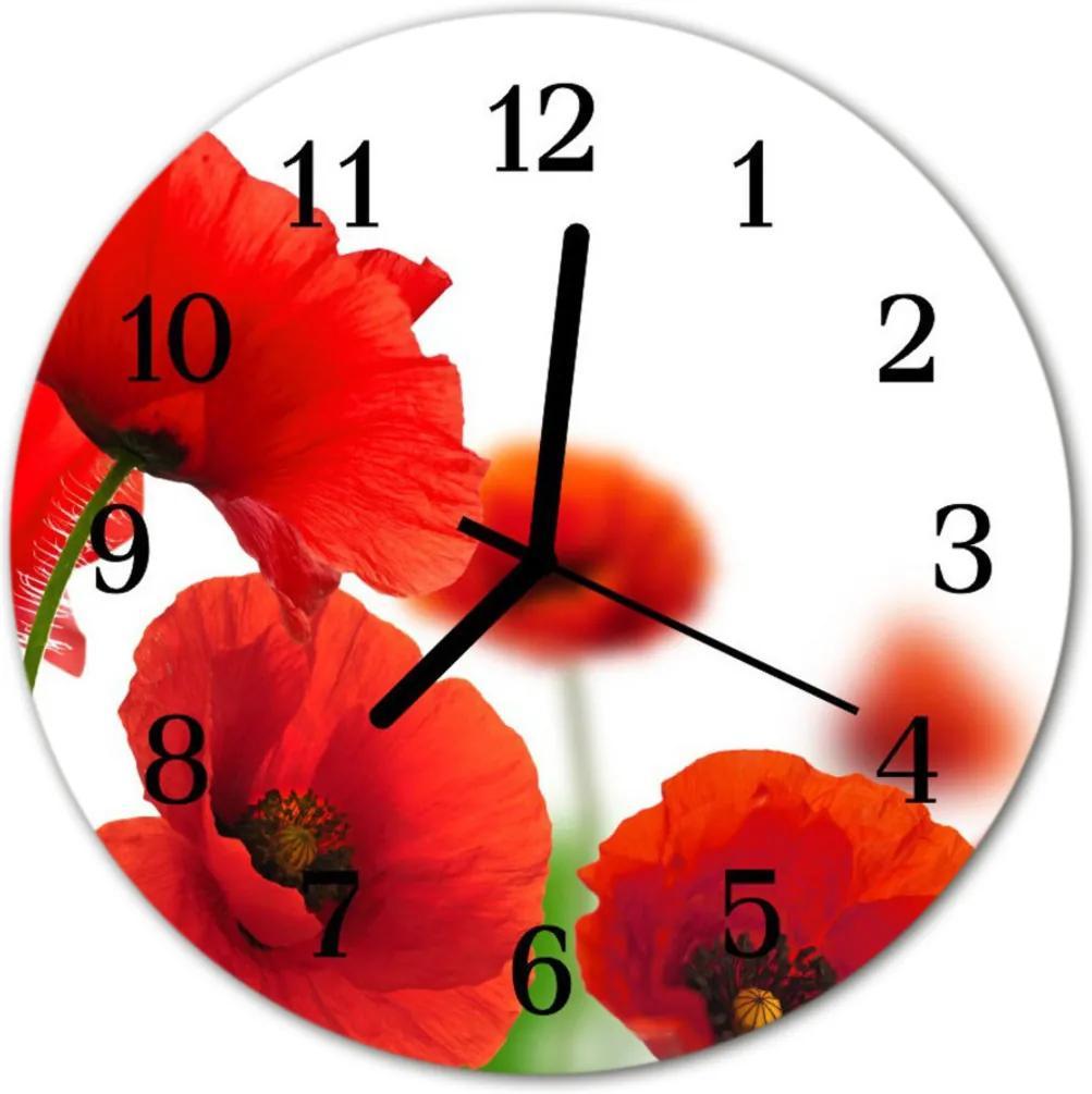 Skleněné hodiny kulaté Maki