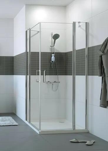 Sprchové dvere Huppe dvojkrídlové 100 cm, sklo číre, chróm profil, univerzálny C23006.069.322
