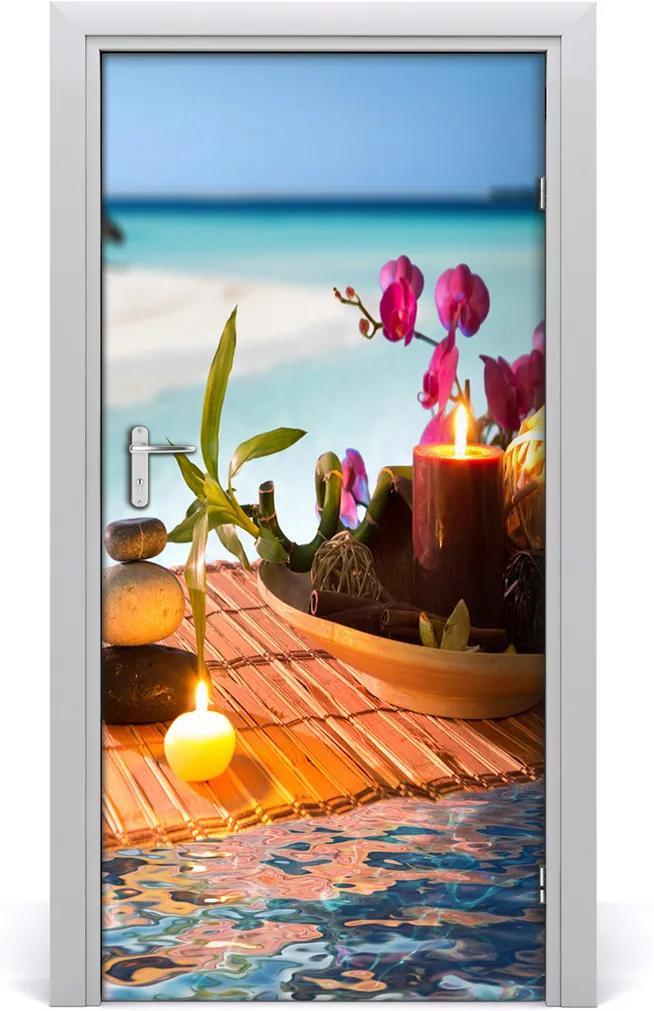 Fototapeta samolepící Orchidej a bambus
