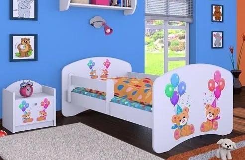 MAXMAX Detská posteľ bez šuplíku 140x70cm MEDVÍDCI