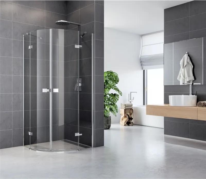 MAXMAX Sprchovací kút, Fantasy, štvrťkruh, 90 cm, R550, chróm ALU, sklo Číre