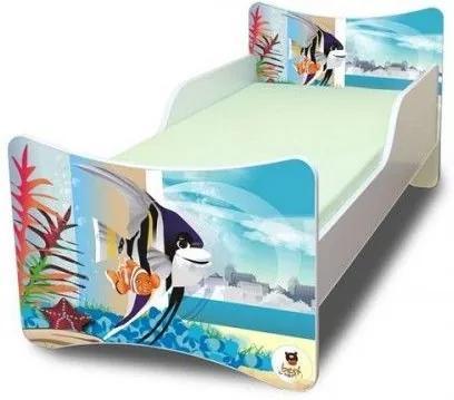 MAXMAX Detská posteľ 180x90 cm - AKVÁRIUM 180x90 pre všetkých NIE