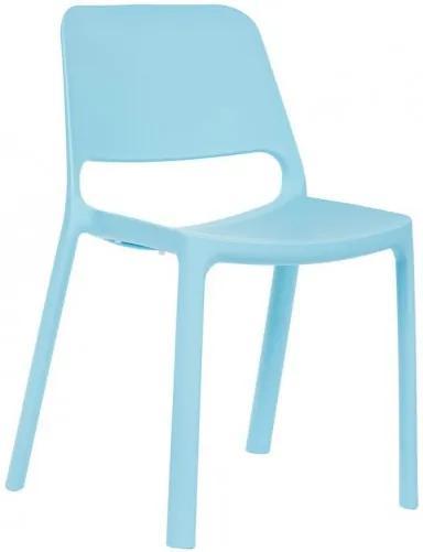 Jedálenská stolička Pixel BR modrá