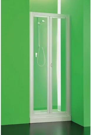 HOPA - Sprchová zástěna Domino - 90 - 95 cm, 185 cm, Univerzální, Plast bílý, 2,2 mm polystyrol (BSDOM97P)