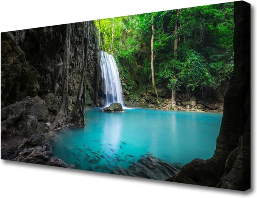 Obraz na plátně Jezero vodopád příroda
