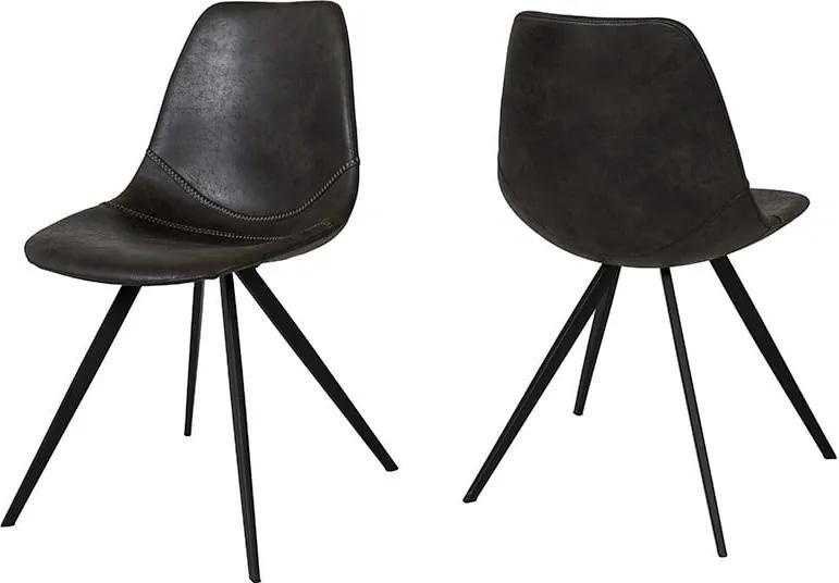 Čierna jedálenská stolička Canett Liva Ivina