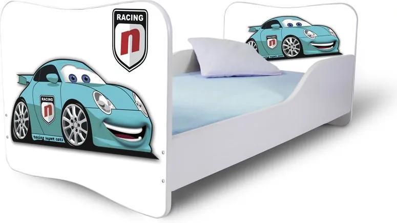 MAXMAX Detská posteľ RACING + matrac ZADARMO 180x80 pre chlapca NIE