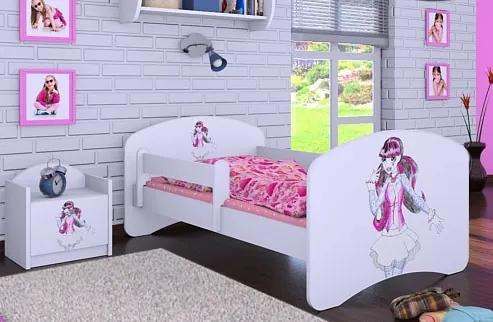 MAXMAX Detská posteľ bez šuplíku 140x70cm FUNNY GIRL 140x70 pre dievča NIE