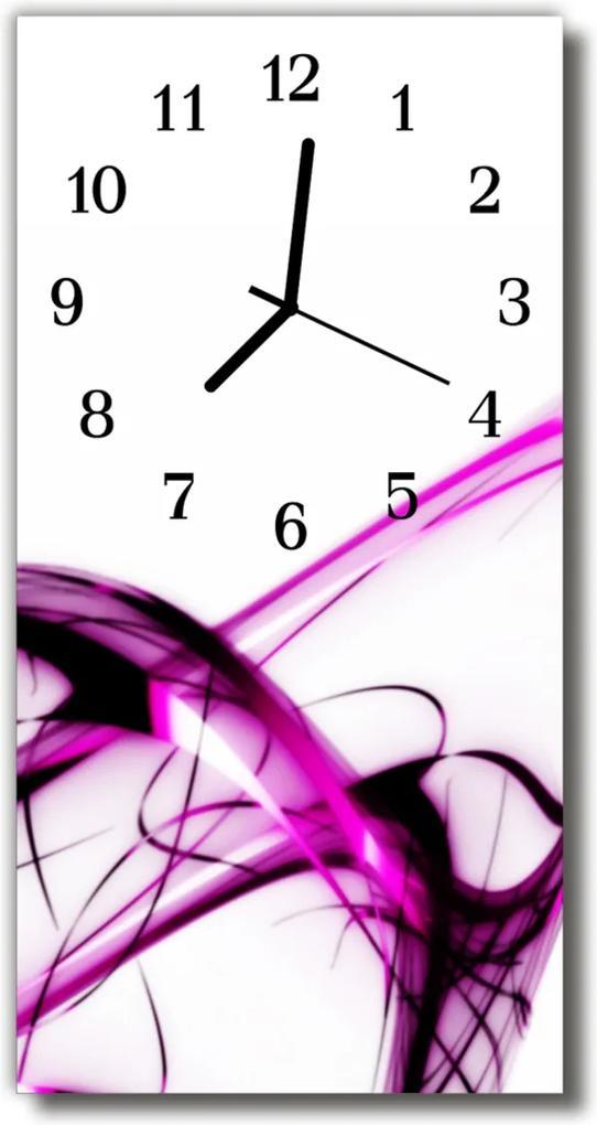 Nástěnné hodiny vertikální Umění Abstrakce barevné čáry