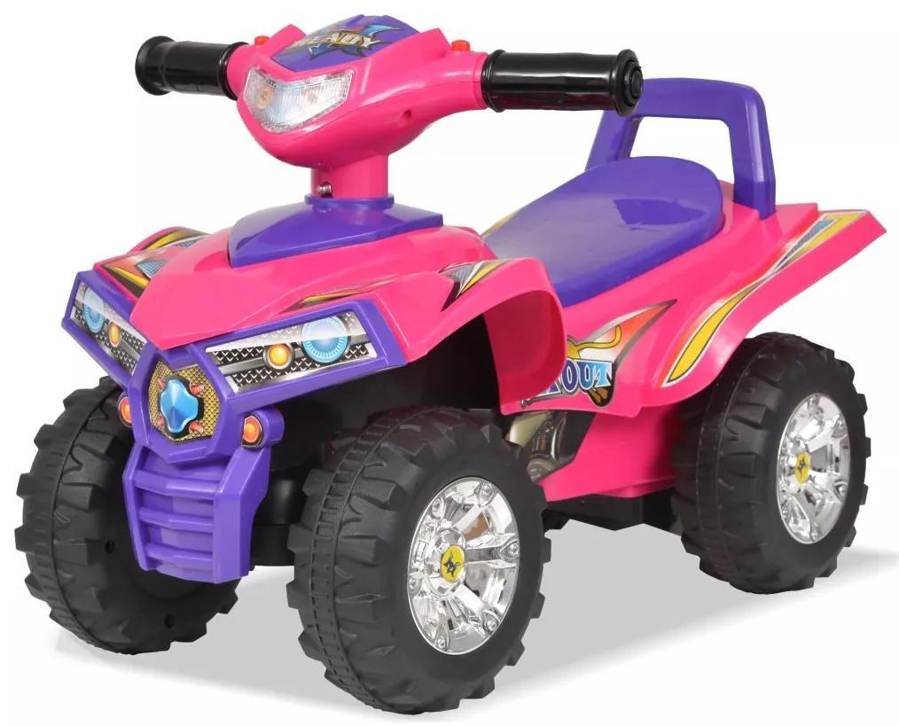 vidaXL Detská štvorkolka ATV so zvukom a svetlom, ružovo-fialová