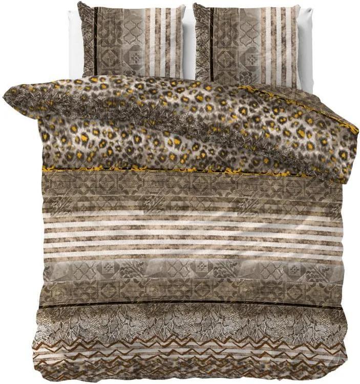 DomTextilu Luxusné hnedé posteľné obliečky so zvieracím motívom z kolekcie PANTHER 200 x 220 cm 36983