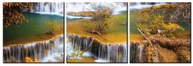 Tlačený obraz Vodopád Huay Mae Khamin 90x30cm 1289A_3A