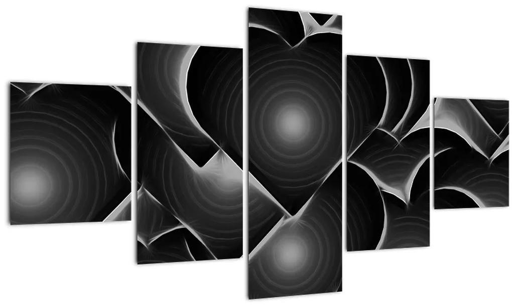 Obraz čierno-bielych sŕdc (125x70 cm), 40 ďalších rozmerov