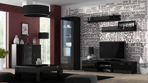 CAMA MEBLE Obývacia stena SOHO 2 Farba: čierna