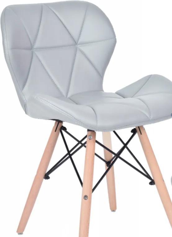 Jedálenská stolička EKO svetlo sivá - škandinávsky štýl