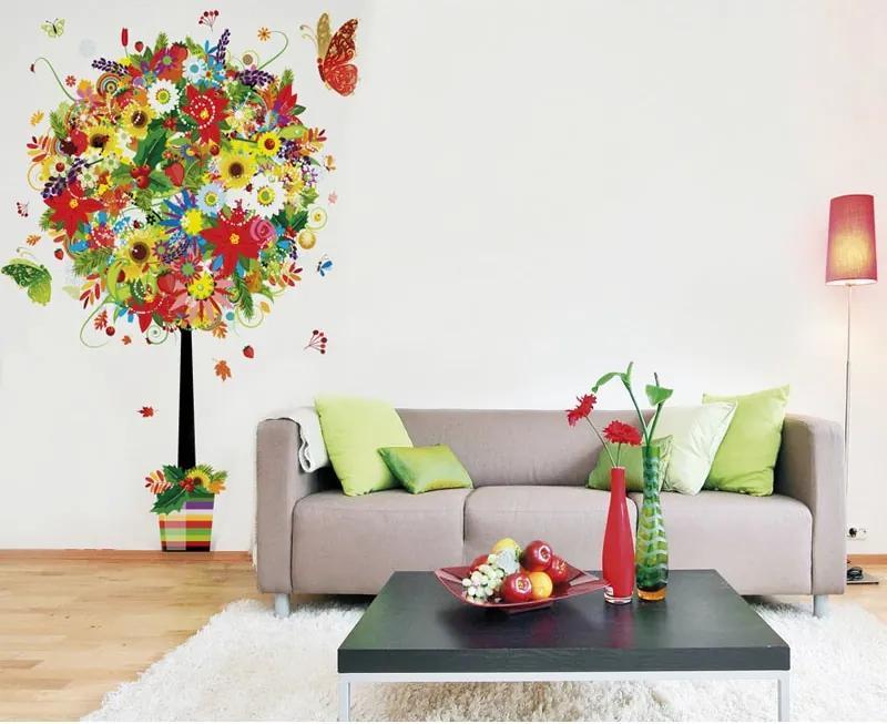 Textilná tapeta, Kvetinový strom