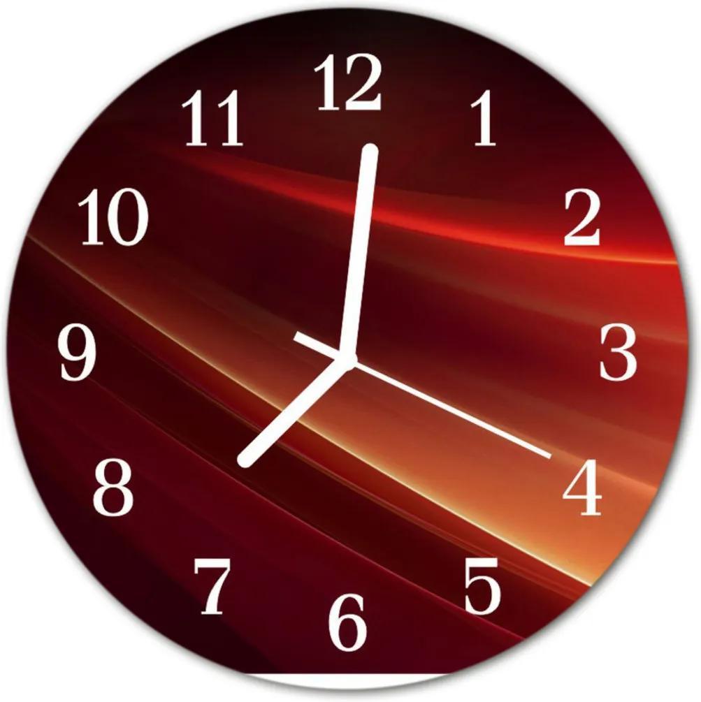 Skleněné hodiny kulaté abstrakce
