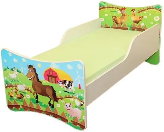 MAXMAX Detská posteľ 200x80 cm - FARMA 200x80 pre všetkých NIE