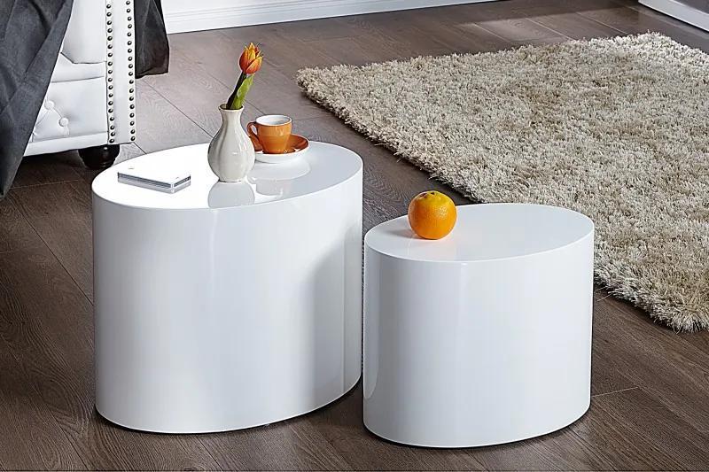 Bighome - Set 2 odkladacích stolíkov DIVISION - biela
