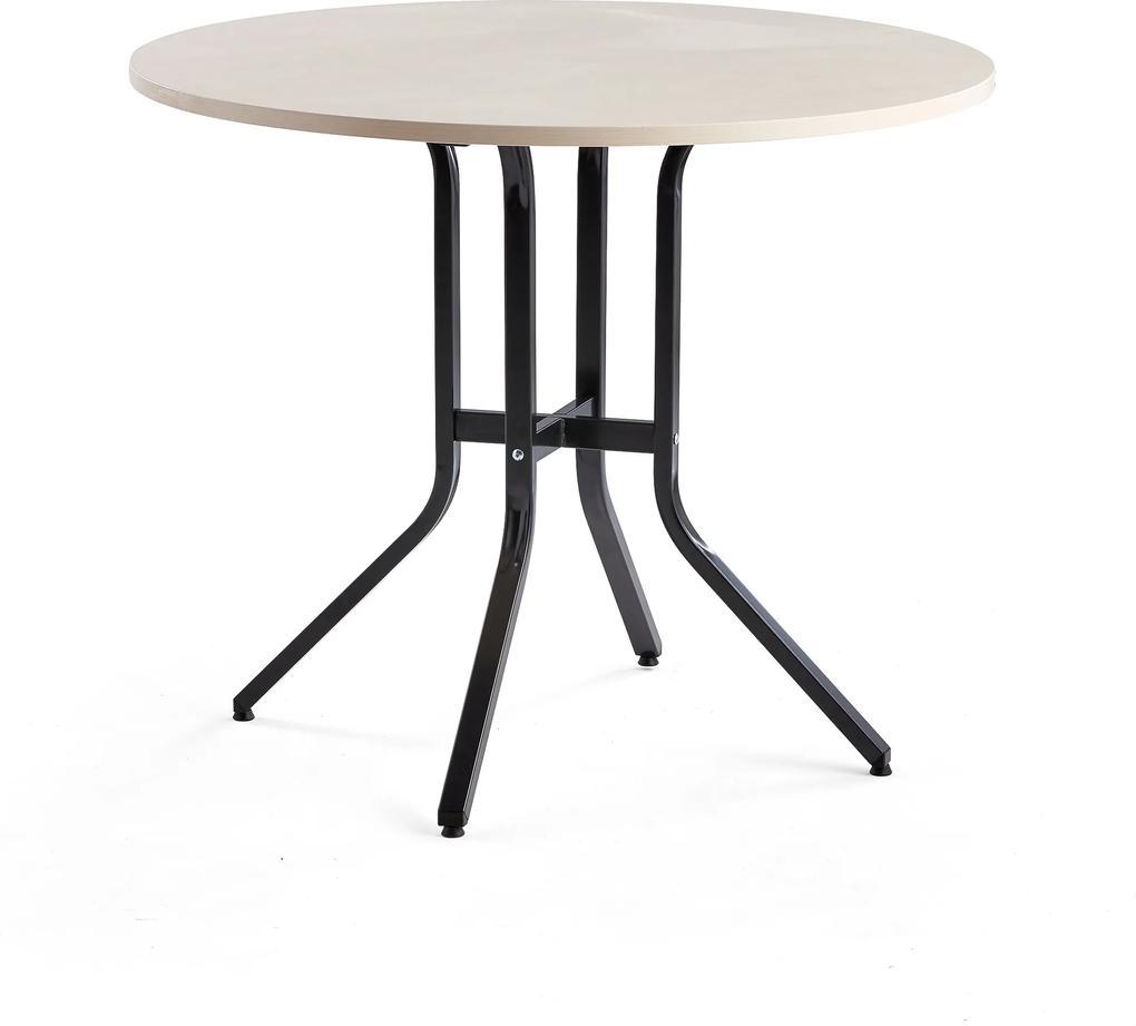 Stôl Various, Ø1100x900 mm, čierna, breza
