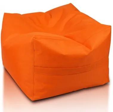 Ecopuf Sedací vak ECOPUF - CUBO - polyester NC9 - Oranžová