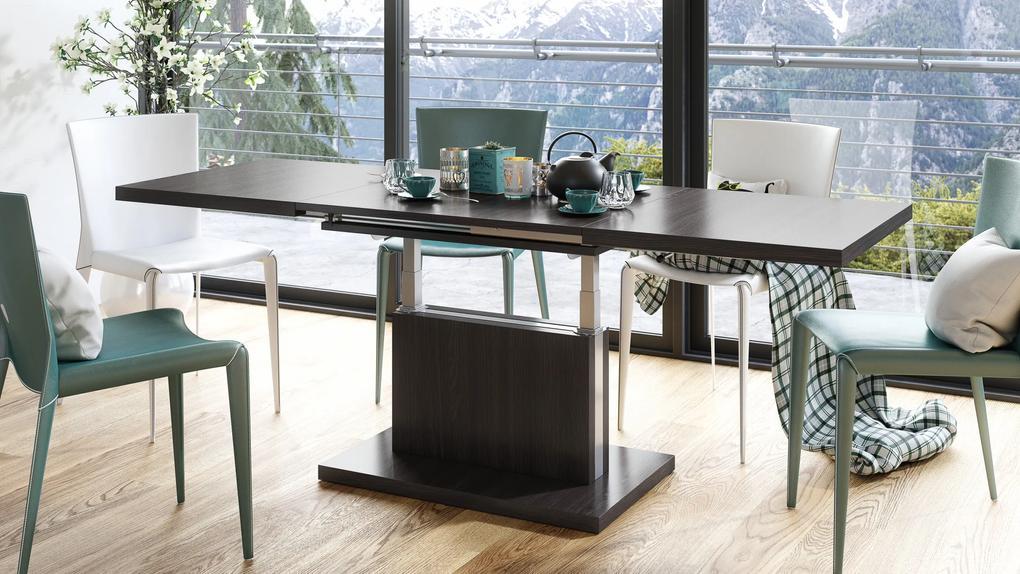 Mazzoni ASTON wenge - rozkladací, zdvíhací, konferenčný stolík