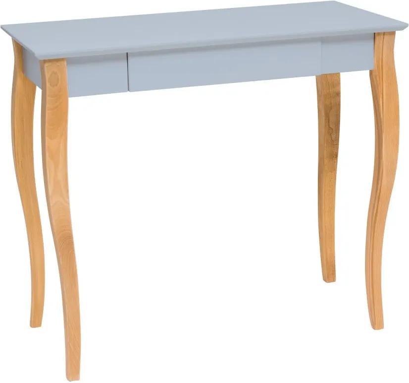 Svetlosivý písací stôl Ragaba Lillo, dĺžka 85 cm
